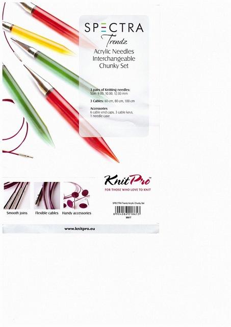 Giant Knitting Needles For Sale Uk : Knitpro spectra trendz acrylic needles interchangeable