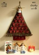 King Cole Pattern for Knitted Advent Tree and Angels(8001)