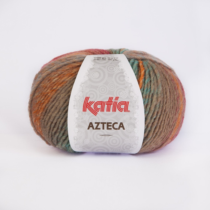 Katia Azteca 7840 Light blue-Light yellow-Orange-Beige