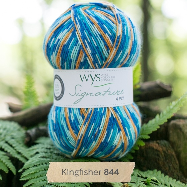 West Yorkshire Spinners Signature 4 Ply - Country Birds KINGFISHER