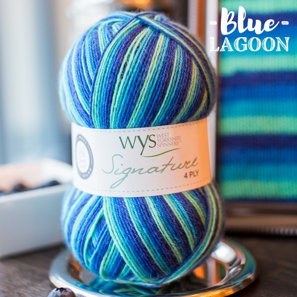 West Yorkshire Spinners Signature 4ply Cocktail Range BLUE LAGOON