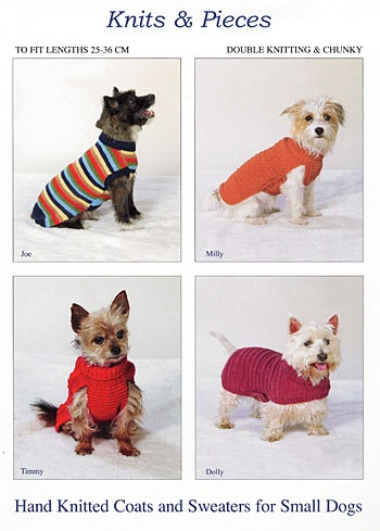 Knitting Dog Coat Patterns (Small Dogs) by Sandra Polley