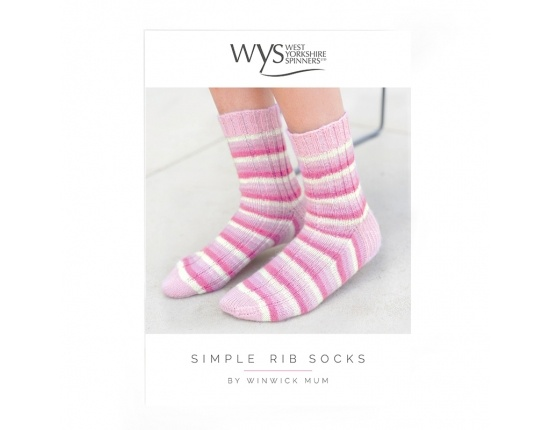 West Yorkshire Spinners Simple Rib Sock Pattern By Winwick mum