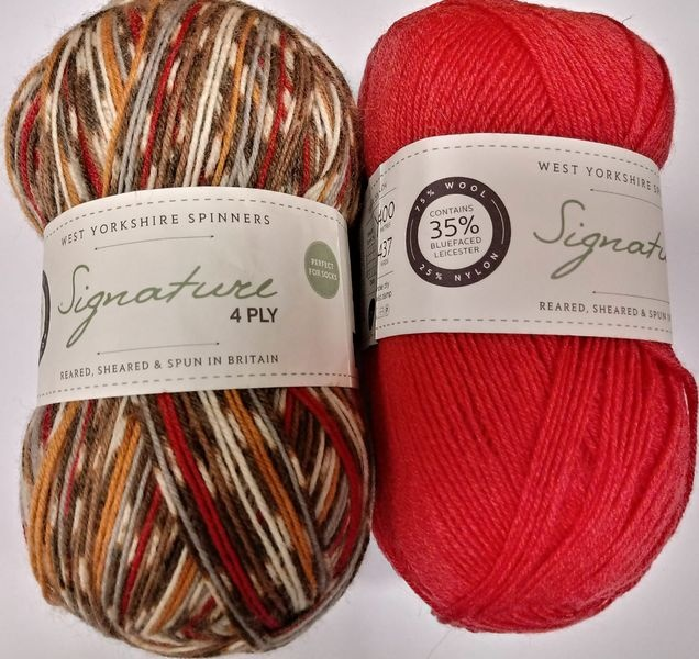 West Yorkshire Spinners Signature 4ply Robin Bundle 2
