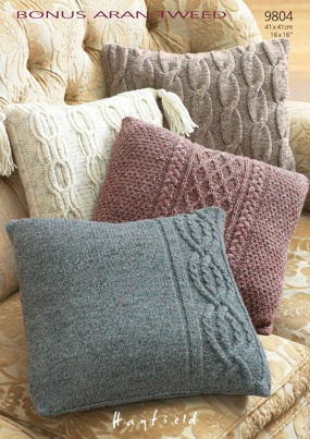 Cushion Covers Bonus Aran Tweed