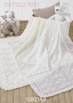 Sirdar Snuggly 2 ply and 3 ply Knitting Pattern 1452
