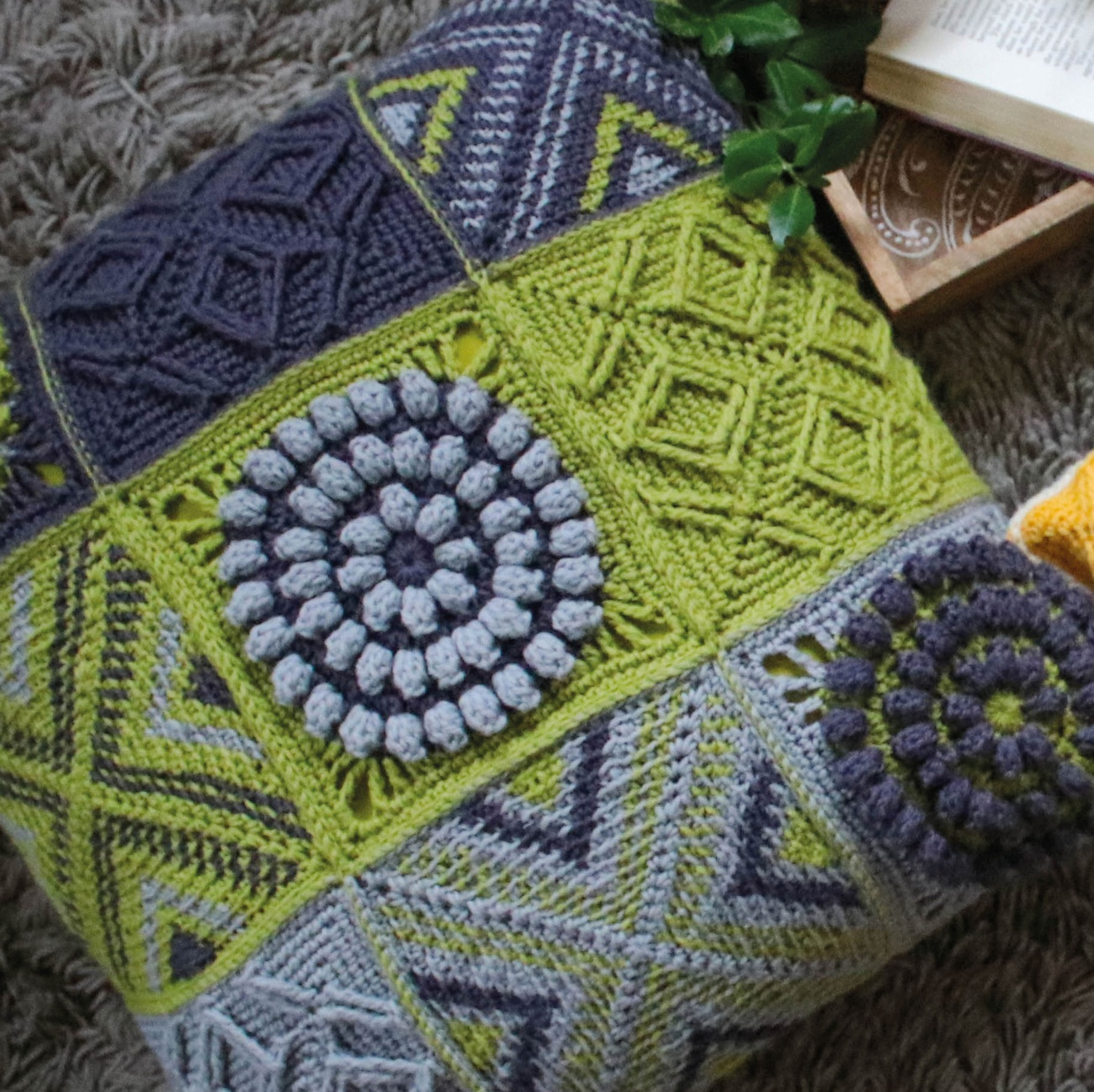 West Yorkshire Spinners Colour Lab Crochet Along Cushion - Green
