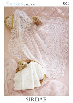 Sirdar Snuggly 3 Ply/4 Ply Knitting Pattern 3028