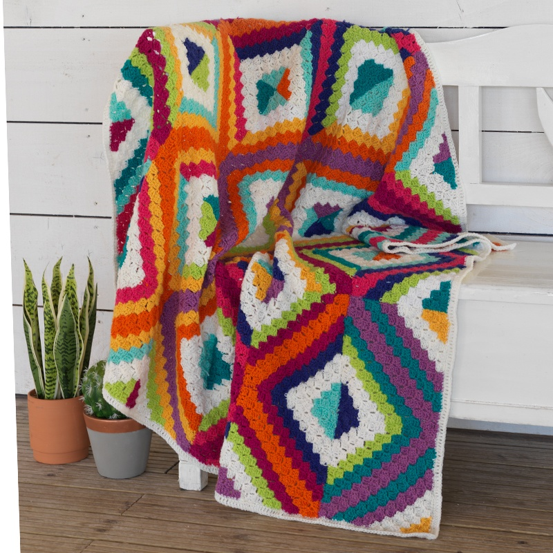 West Yorkshire Spinners - Colour Lab Summer's Dawn Crochet Blanket Kit