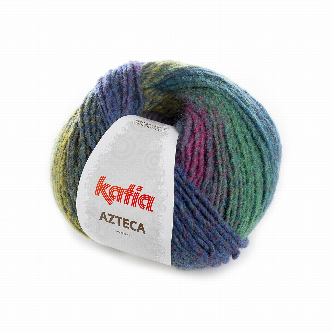 Katia Azteca Yarn 7864 Blue-Green-Rose
