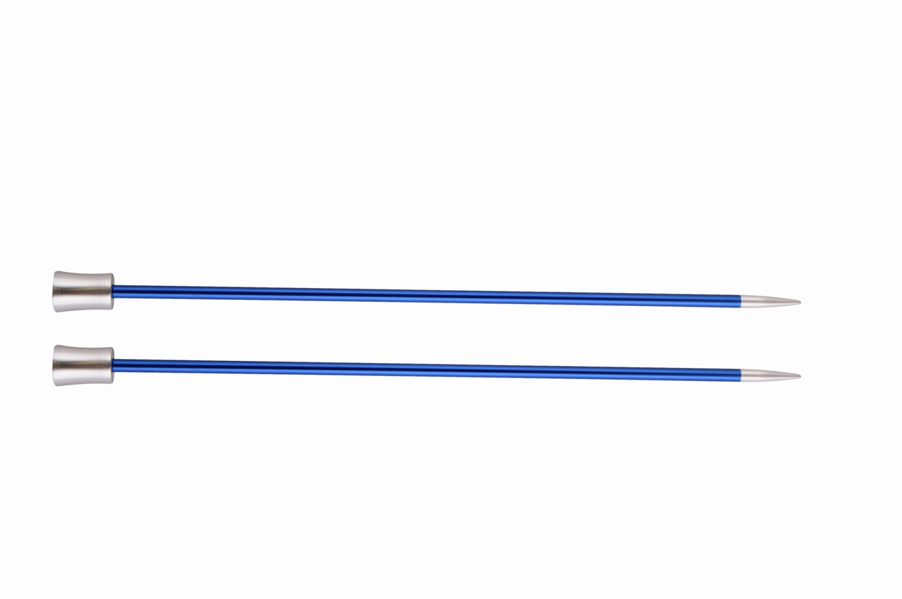 KnitPro Single Point Knitting Needles - Zing - 30cm - 4 mm Sapphire