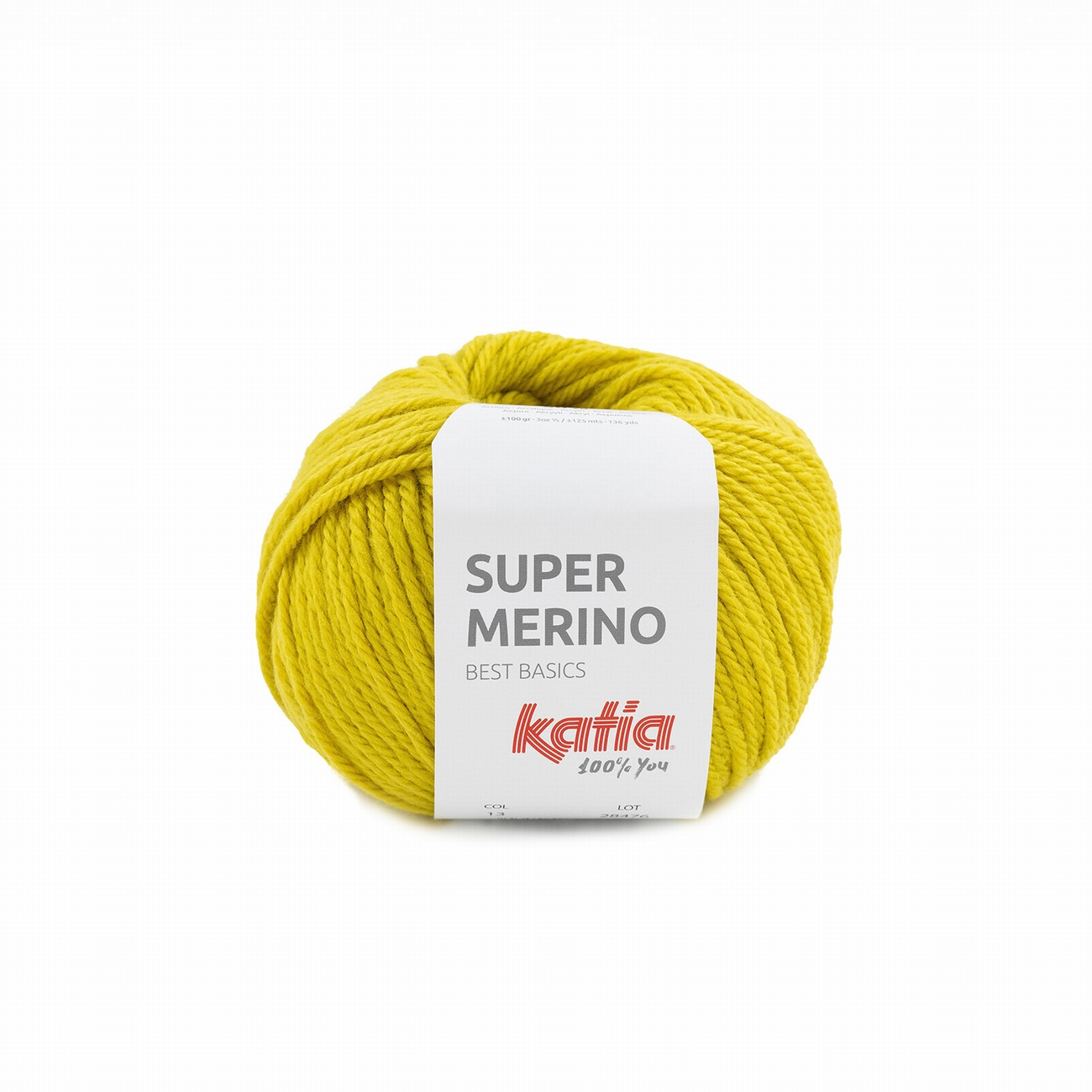 Katia Super Merino 13 - Lemon Yellow