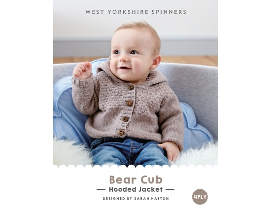 West Yorkshire Spinners - Bear Cub Hooded Jacket Kit in Bo-peep 4 ply - All Colours