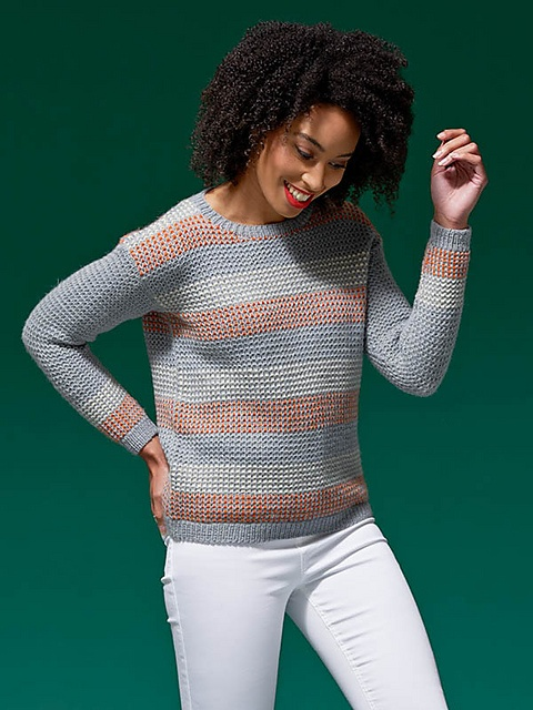 West Yorkshire Spinners Colour Lab 'Mae' Pop Stripe Jumper Kit Small, Medium, Large