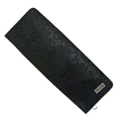 KnitPro Hard Black Jacquard Knitting Needle Storage Case 35cm