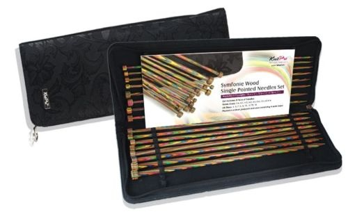 KnitPro Symfonie Wood Single Pointed Knitting Needle Set 35cm