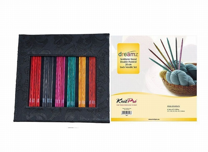 KnitPro Dreamz Symfonie Wood Double Pointed Sock Needle Set 20cm