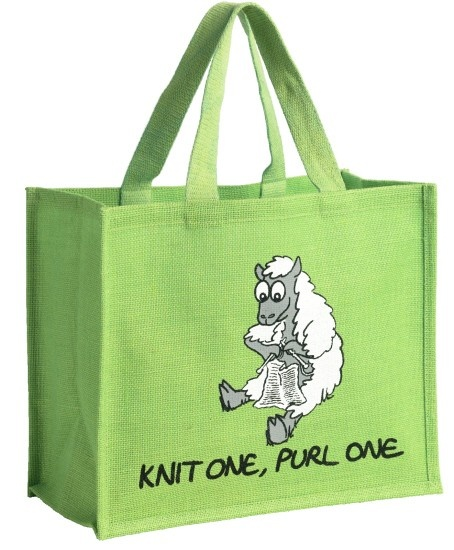 "Vanessa Bee Shopping Bag ""Knit One Purl One"" - All Colours"
