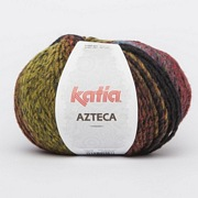 Katia Azteca  7854 Black-Lilac-Blue-Orange-Yellow