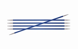 KnitPro Zings DPN Knitting Needles Sapphire-4mm