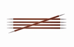 KnitPro Zings DPN Knitting Needles Sienna-5.5mm 15cm