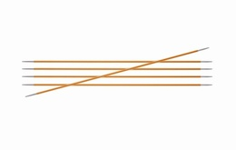 KnitPro Zings DPN Knitting Needles 20cm- Amber 2.25mm