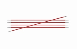 KnitPro Zings DPN Knitting Needles 20cm- Garnet 2.5mm