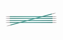 KnitPro Zings DPN Knitting Needles 20cm- Emerald 3.25mm