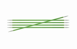 KnitPro Zings DPN Knitting Needles 20cm- Chrysolite 3.5mm