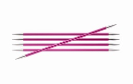 KnitPro Zings DPN Knitting Needles 20cm- Ruby 5mm