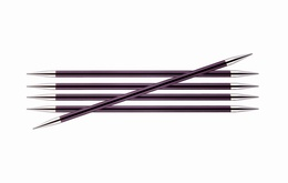 KnitPro Zings DPN Knitting Needles 20cm- Purple Velvet 6mm