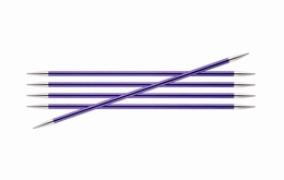 KnitPro Zings DPN Knitting Needles 20cm- Amethyst 7mm