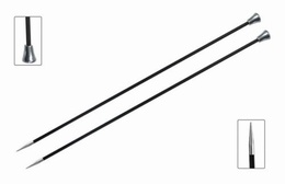KnitPro Karbonz Straight Knitting Needles 25cm- 2mm