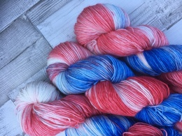Hand Dyed By Sally 4 Ply BFL - Beat the Blues