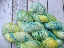 Hand Dyed By Sally 4 Ply BFL Walk in the Spring Woods