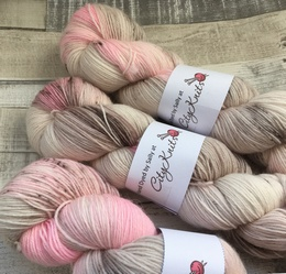 Hand Dyed By Sally 4 Ply BFL Vintage Ice Cream