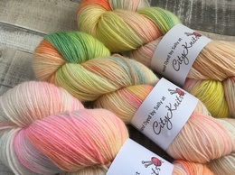 Hand Dyed By Sally 4 Ply BFL Sherbet Fizz