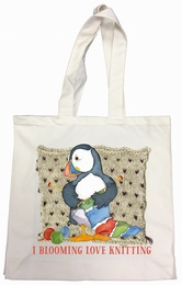 Emma Ball - Cotton Canvas Bag 'I Blooming Love Knitting'