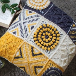 West Yorkshire Spinners Colour Lab Crochet Along Cushion - Yellow