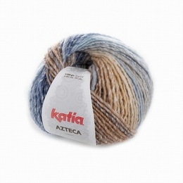 Katia Azteca Yarn 7867  Blue-Brown-Grey