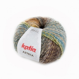 Katia Azteca Yarn 7861 Beige-Ochre -Brown-Green