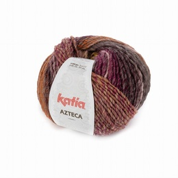 Katia Azteca Yarn 7870 Brown = Raspberry - Red - Light Pink - Yellow