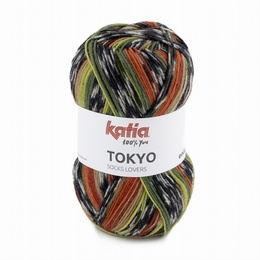Katia Tokyo Superwash Sock Yarn Shade 82 - Green - Rust