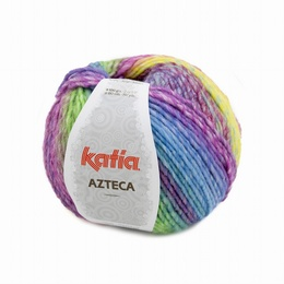 Katia Azteca Yarn 7871 -  Orange-Fuchsia-Green-Blue-Lilac