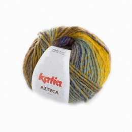 Katia Azteca Yarn 7866 Green-Mustard-Rust-Blue-Brown