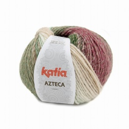 Katia Azteca Yarn 7875 off white-Green-Rose-Brown